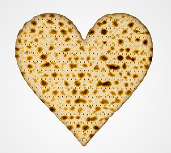 Matzah heart